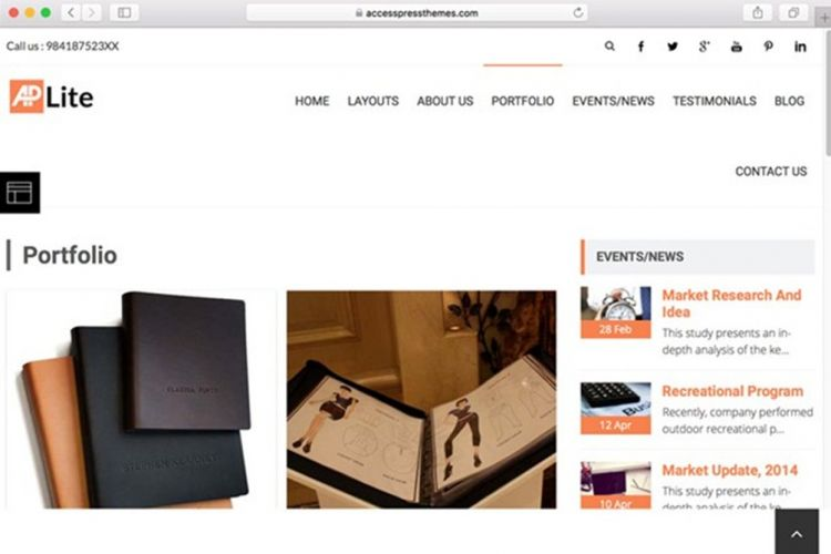 Template Portfolio WordPress AcessPress Lite