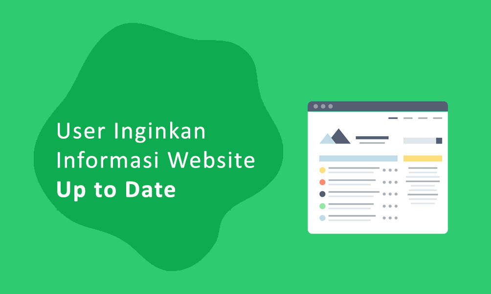 User Inginkan Informasi Website Up to Date